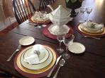 Elegant dining with Lenox Urban Twilight china and Crystal