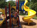Playground - brand new; 3 blocks away.  Huge - great for kids of all ages