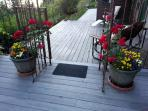 Flowers on guest house decks