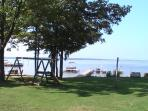 front yard, dock
