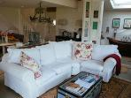 Squashy feather sofas with fab views