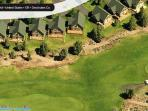Birds eye view of chalets. Walk to pool, hot tub, putting course, driving range.
