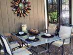 The Carriage House dining patio