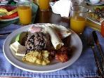 The classic and delicious 'tico' breakfast.