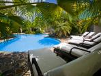 Allamanda Estate's Free Form Pool set in a Tropical Garden