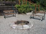 Fire Pit on the Private Beach