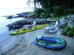 Inflatables and kayaks to use