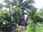 Garden with beach access