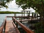 Boat and Fishing Dock on Lemon Bay Available to Tie up Boats