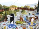 Terrace for breakfast