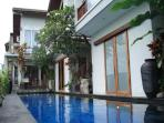our 16 meter-lap-pool shared between among two villas