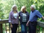 The Vacation Cottage-Friends enjoying the deck
