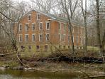 The Yount Woolen Mill from Sugar Creek