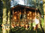 Front cabin and veranda with sliding galss doors to take advantage of the magnificent views.