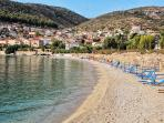 Blue flag beach in Kiveri village close to Nafplion