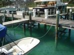 Private slip at Tahiti Beach dock. Free mooring of your rental boat.