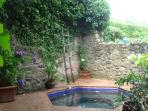 Hot tub - showing private courtyard