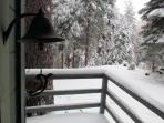 View from front deck in winter