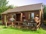 GLEN PEAN, detached timber cottage, single-storey, decked area, good walking in area, in Corpach, near Fort William, Ref 28289