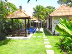 Chill Villa Bali with 2 bedroom, 3 bathroom, outdoor shower, kitchen, living room, pool and garden