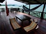 The deck has been renovated to create more privacy