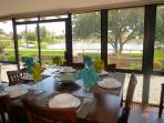 Sun Room Dining Area Over Looking the Lake