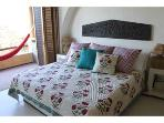 All bedrooms have beautiful luxury bedding from India