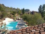 La vista del giardino dal tetto del Cottage - La Casetta - Villa Rosa
