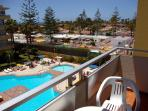 View from the balcony to the Swimming-pool