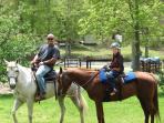 Campers enjoying a trail ride