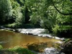 River Lie, runs through the valley below the longere