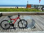 Cycle track follows the coast for 15+ km