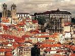 The historic centre of Porto is 5km up-river