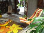 a colorfull terrasse