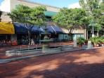Nearby Shirlington Village - water fountain
