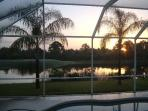 Sunrise over the pool & lake