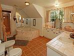 Master Bathroom with Jacuzzi Tub
