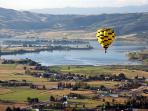 Enjoy a scenic, peaceful hot air ballon ride over Pineview Reservoir.