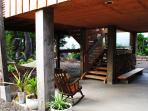 Outdoor living space & stair