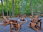 Firepit: Backyard creekside