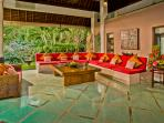 Lounge area in Pavilion Salsa - relax and unwind in this impressively large space