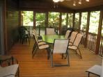 Screened Porch--25' Long-outside Grilling Deck