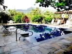 Pool & BBQ area w/ gorgeous tropical flora & views of Sleeping Giant- NEW stone deck/mosaic 11/2013