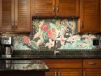 Kitchen with Mosiac Artwork