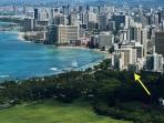 Just steps from the historic beach at Waikiki