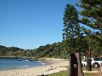 Local, pristine beach