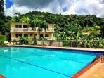 The pool at Hacienda Moyano
