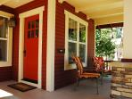Front porch for sipping coffee or wine