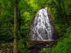 Come enjoy one of the many waterfalls near Hawks View. This is Crabtree Falls