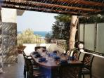 The sea views from Outside Dining Room